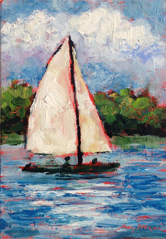 """""""Sail Away"""" original fine art by Nancy F. Morgan"""