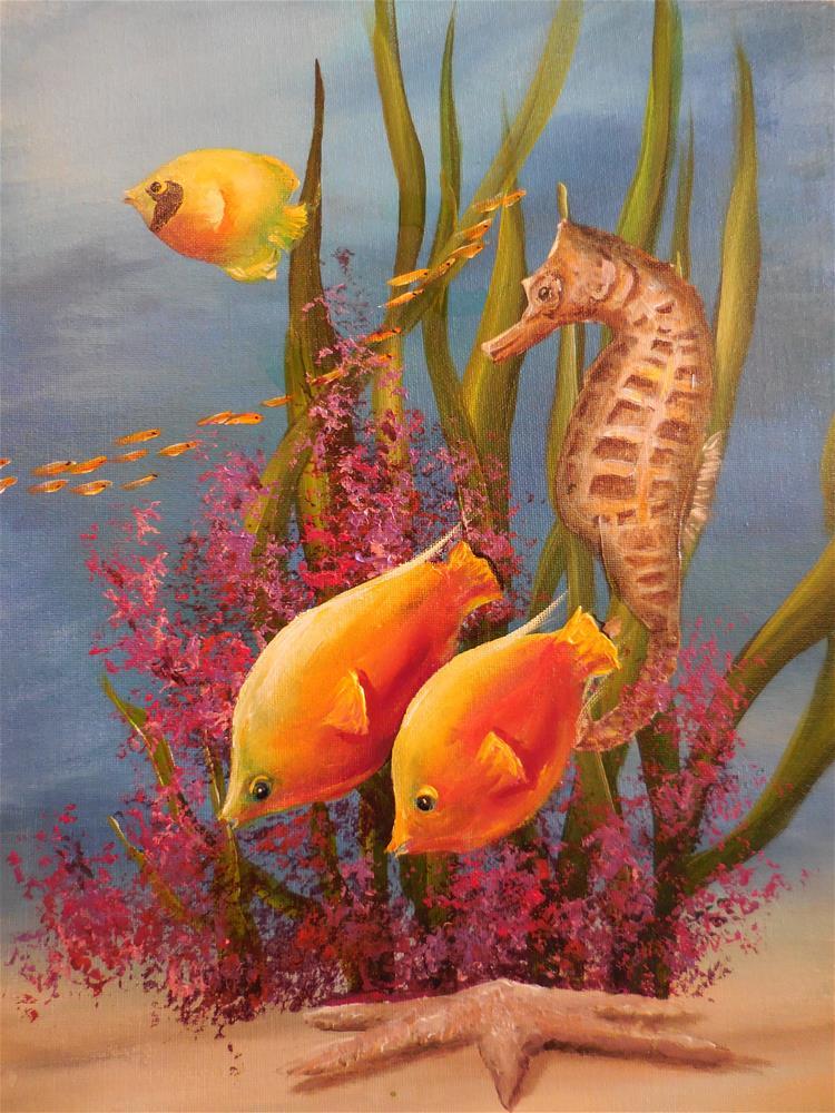 """Seahorse"" original fine art by Terri Nicholson"