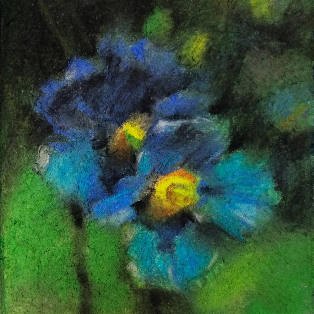 """""""Blue"""" original fine art by Anny Kong"""