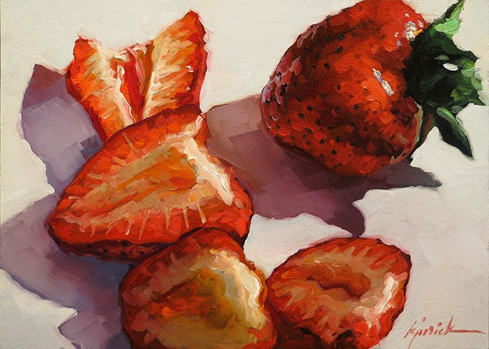 """Strawberry Reds"" original fine art by Karin Jurick"