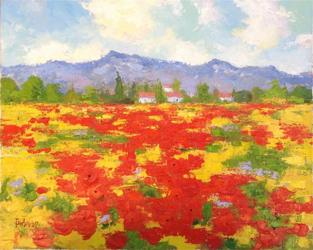 """Coquelicot Field - Provence"" original fine art by Mark Bidstrup"