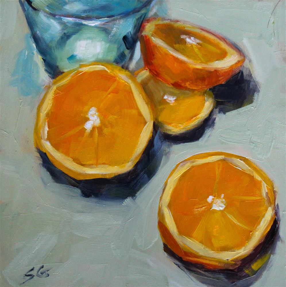 """Orange Slices"" original fine art by Susan Galick"
