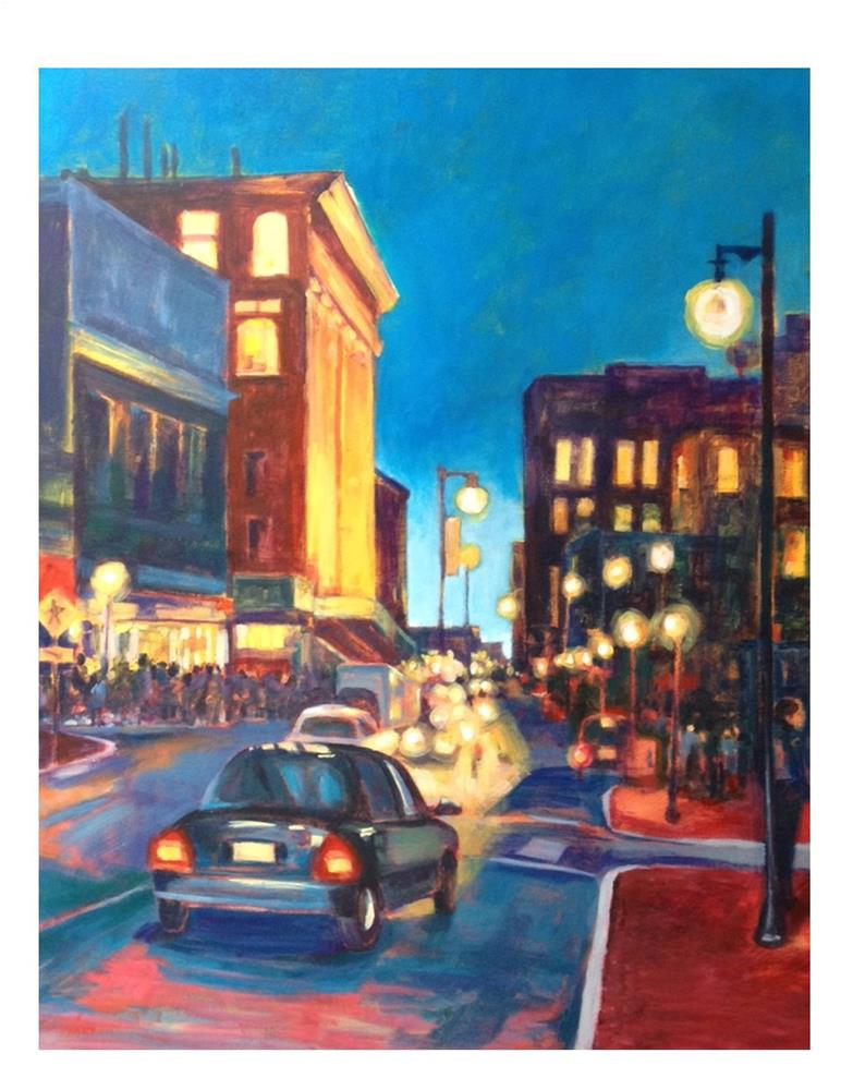 """Portland On A First Friday Night"" original fine art by Suzanne Woodward"