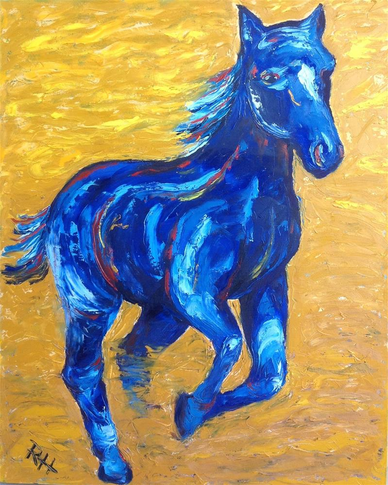 """Blue and Gold"" original fine art by Rachel  Holland"