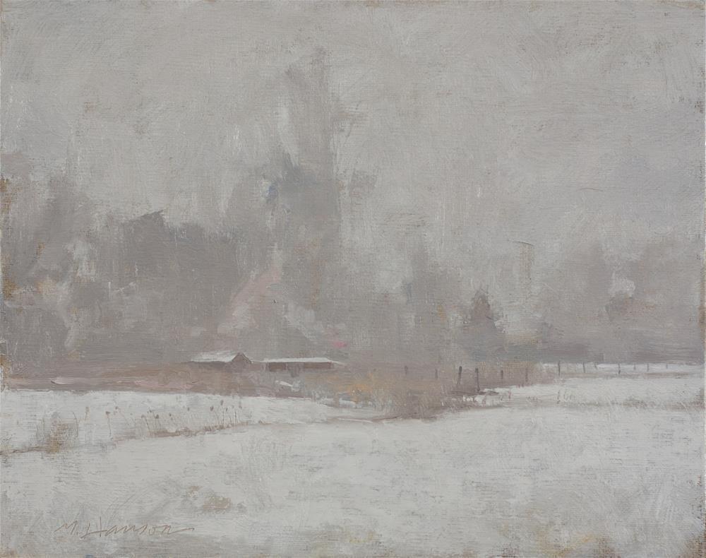"""2-9-3 Freezing Fog #3"" original fine art by Marc Hanson"