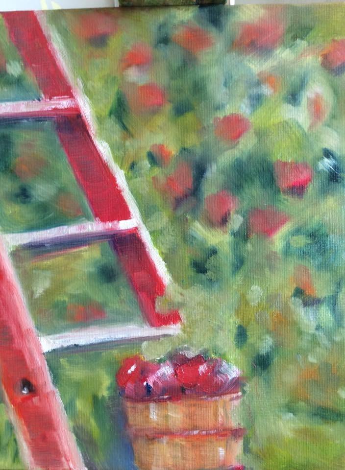 """""""Stairway to Heaven"""" original fine art by Molly Rohrscheib Hathaway"""