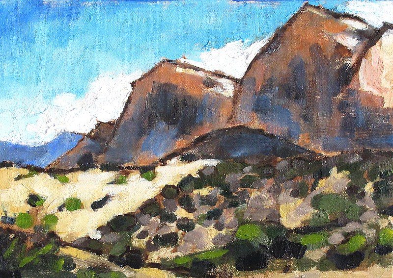 """Red Rock Canyon Painting"" original fine art by Kevin Inman"