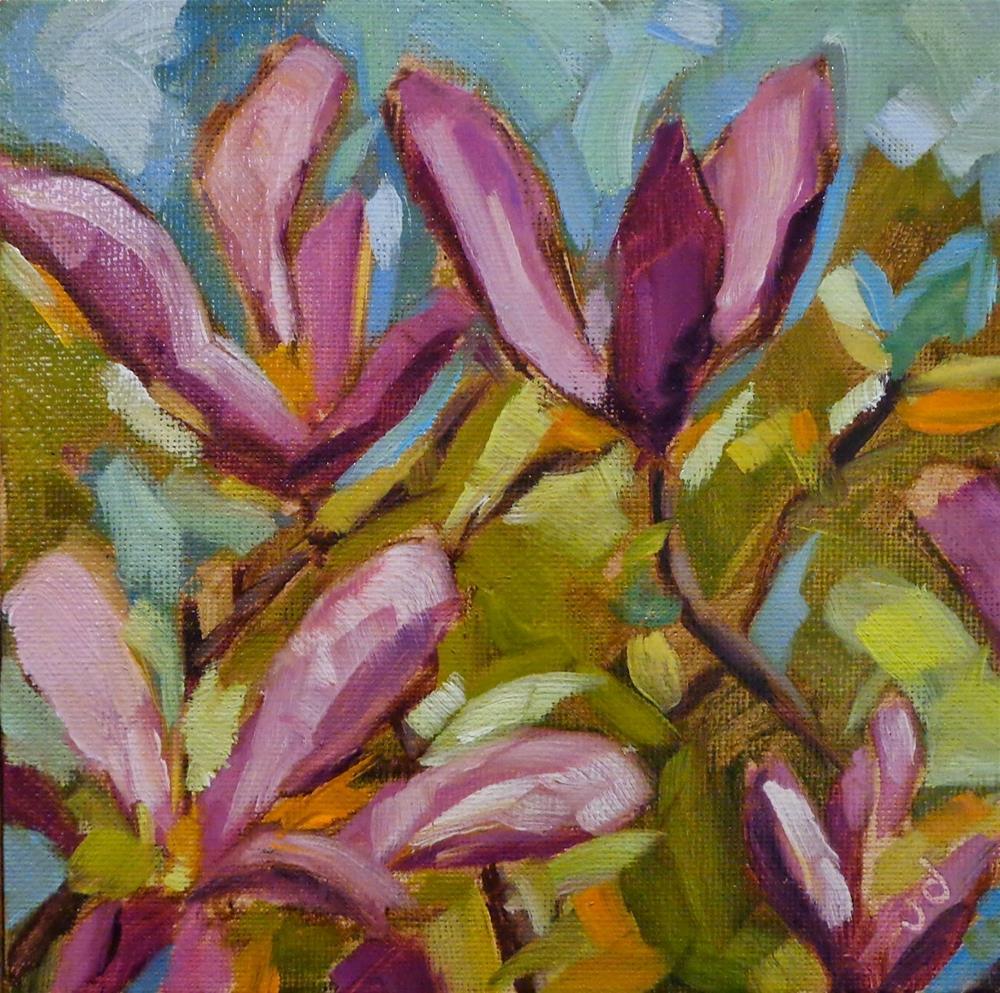 """""""Magnolia moment"""" original fine art by Jean Delaney"""