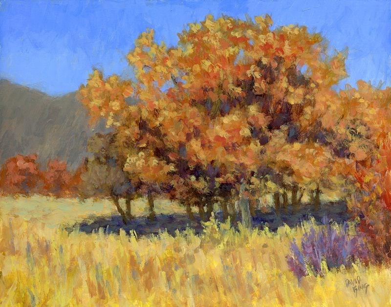 """Autumn Blaze"" original fine art by David King"