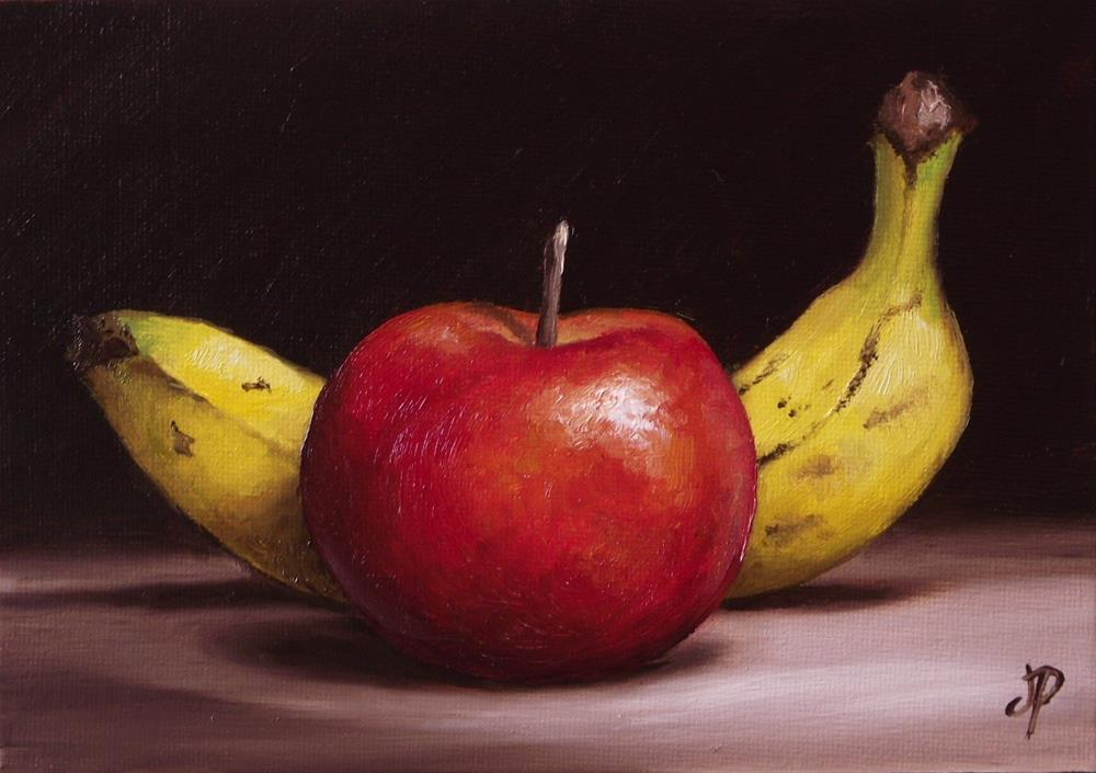 """Apple and Banana"" original fine art by Jane Palmer"