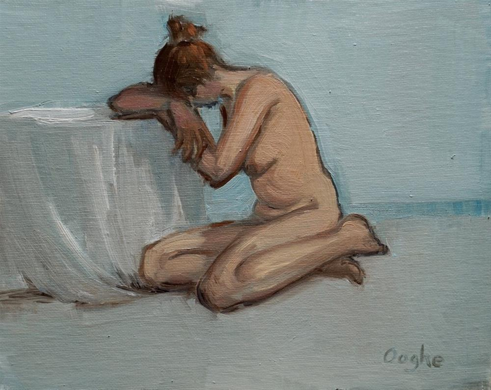 """Nude Female with head down"" original fine art by Angela Ooghe"