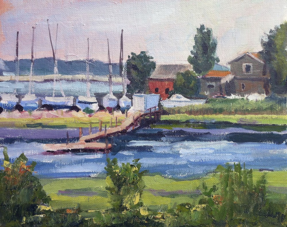 """Sitting Pretty - Plein Air - Branford, CT"" original fine art by Linda Marino"