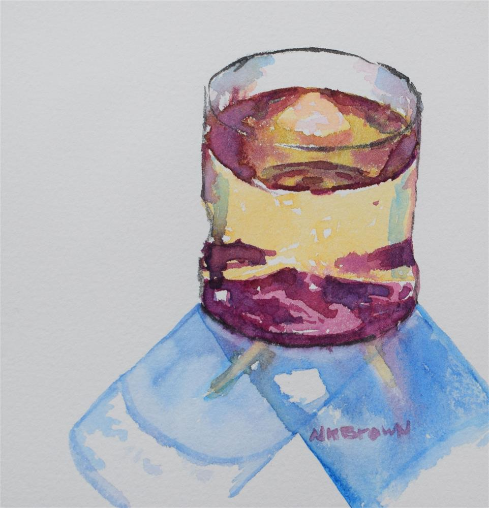 """Not Everyone Does Coffee"" original fine art by Nancy Brown"