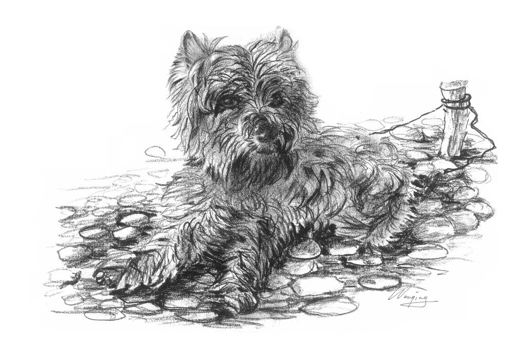 """dog1"" original fine art by Wenqing Xu"