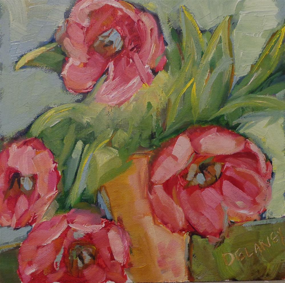 """Tulips in vase"" original fine art by Jean Delaney"