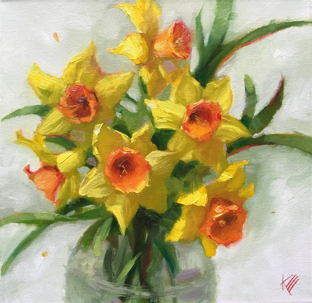 """Daffodil still life"" original fine art by Krista Eaton"