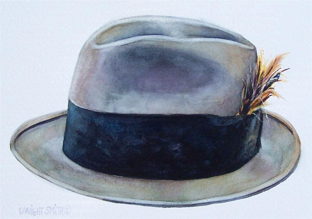 """"""" CHAPEAUX WITH FEATHER   """" original fine art by Dwight Smith"""