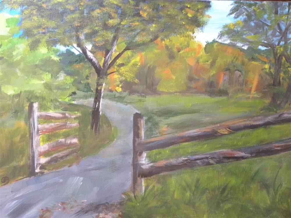 """Sugar Tree Hollow"" original fine art by cheryl buhrman"