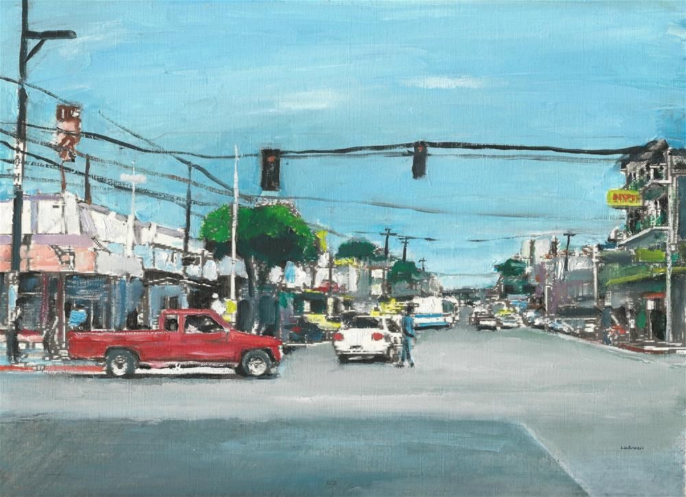 """My Old Town (12 x 16 oil on canvas paper - no frame)"" original fine art by Ramon DelRosario"
