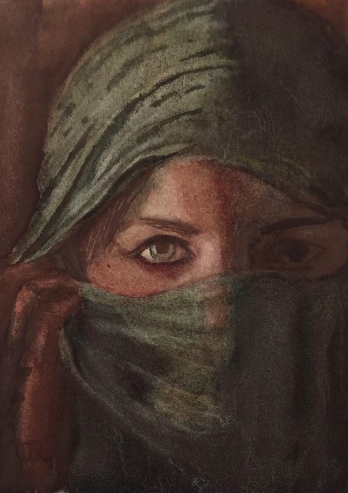 """Emerging"" original fine art by June Rollins"