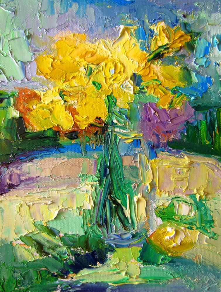 """Daffodils in the Sun 1"" original fine art by Carol Steinberg"