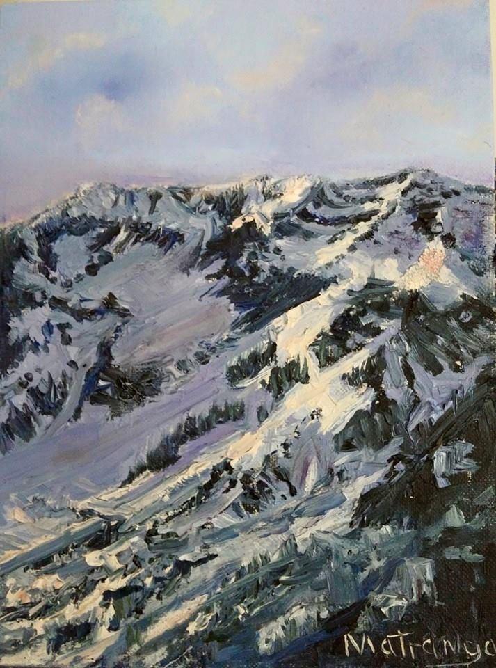 """First Light - Mount Superior Utah"" original fine art by Patricia Matranga"