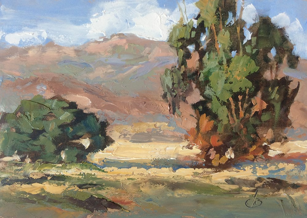 """SADDLEBACK MOUNTAIN"" original fine art by Tom Brown"
