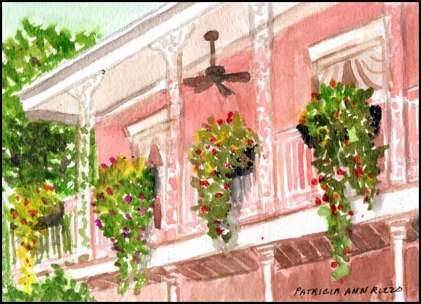 """Down Yonder in New Orleans"" original fine art by Patricia Ann Rizzo"