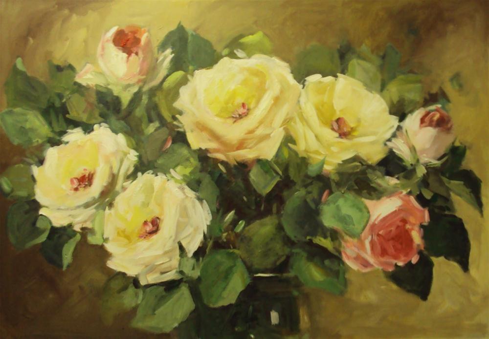 """Rose's glory"" original fine art by Parastoo Ganjei"