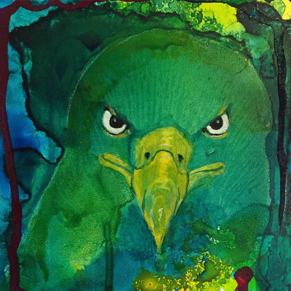 """#7 I See You!"" original fine art by Silke Powers"