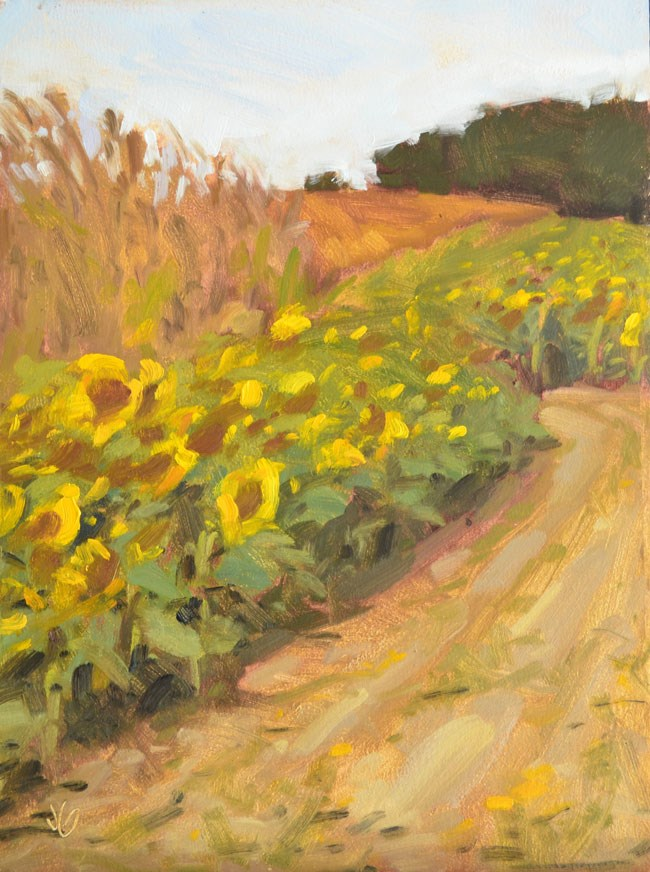 """Harvest of Gold"" original fine art by Jessica Green"