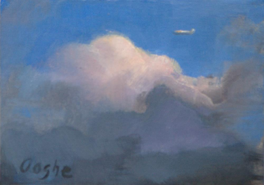 """ACEO Above the Clouds"" original fine art by Angela Ooghe"