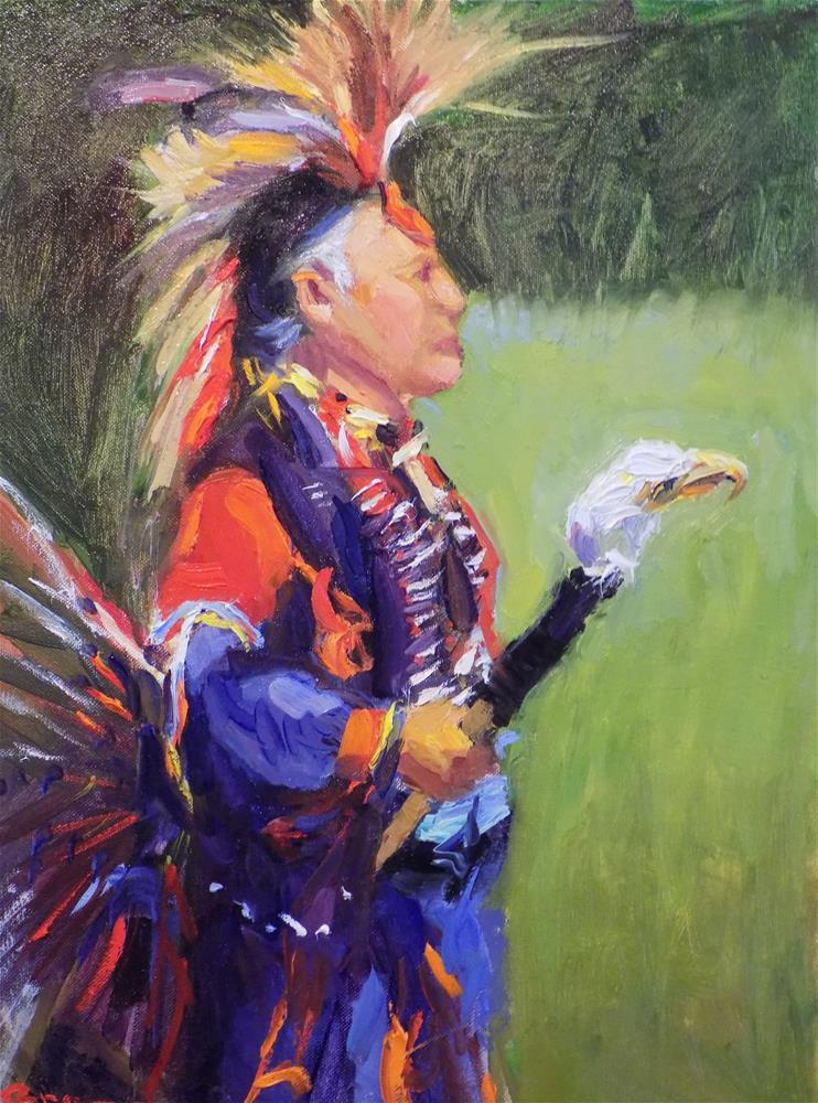 """Elder Chief"" original fine art by Rita Brace"