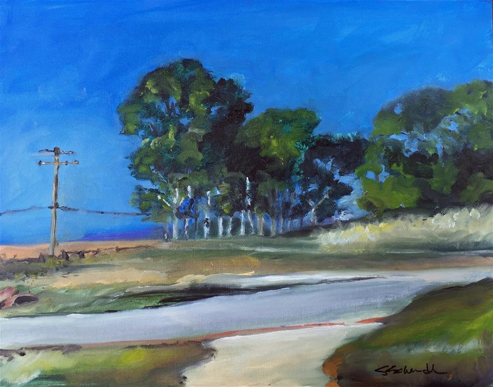 """""""Baylands 1"""" original fine art by Stephen Schendel"""