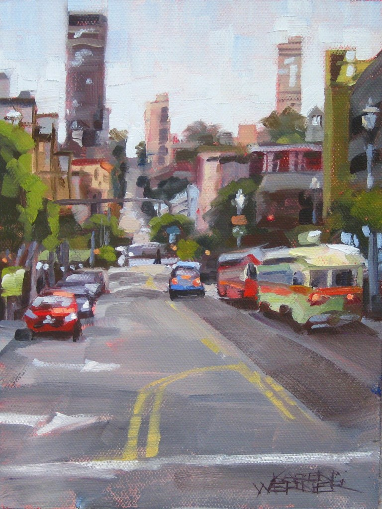 """Frisco Streets"" original fine art by Karen Werner"