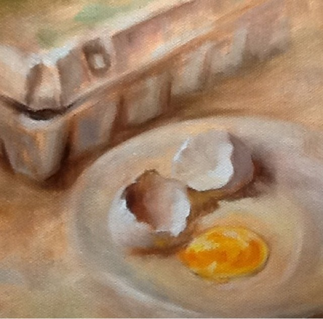 """Out of the Box, Still Life"" original fine art by Diana Delander"