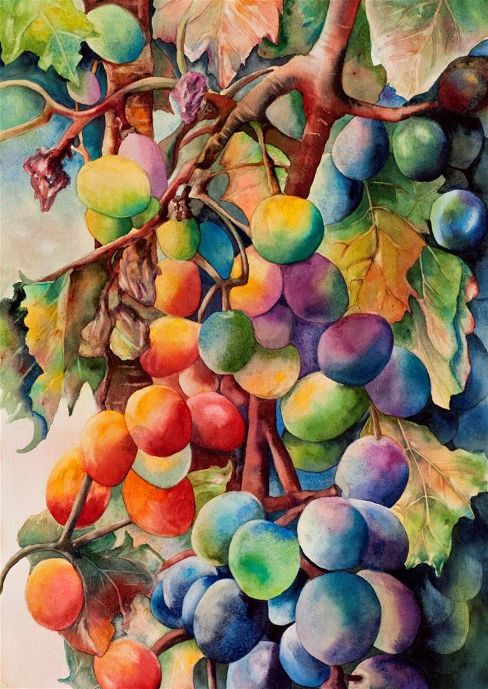 """Fantasy Grapes"" original fine art by Diane Fujimoto"