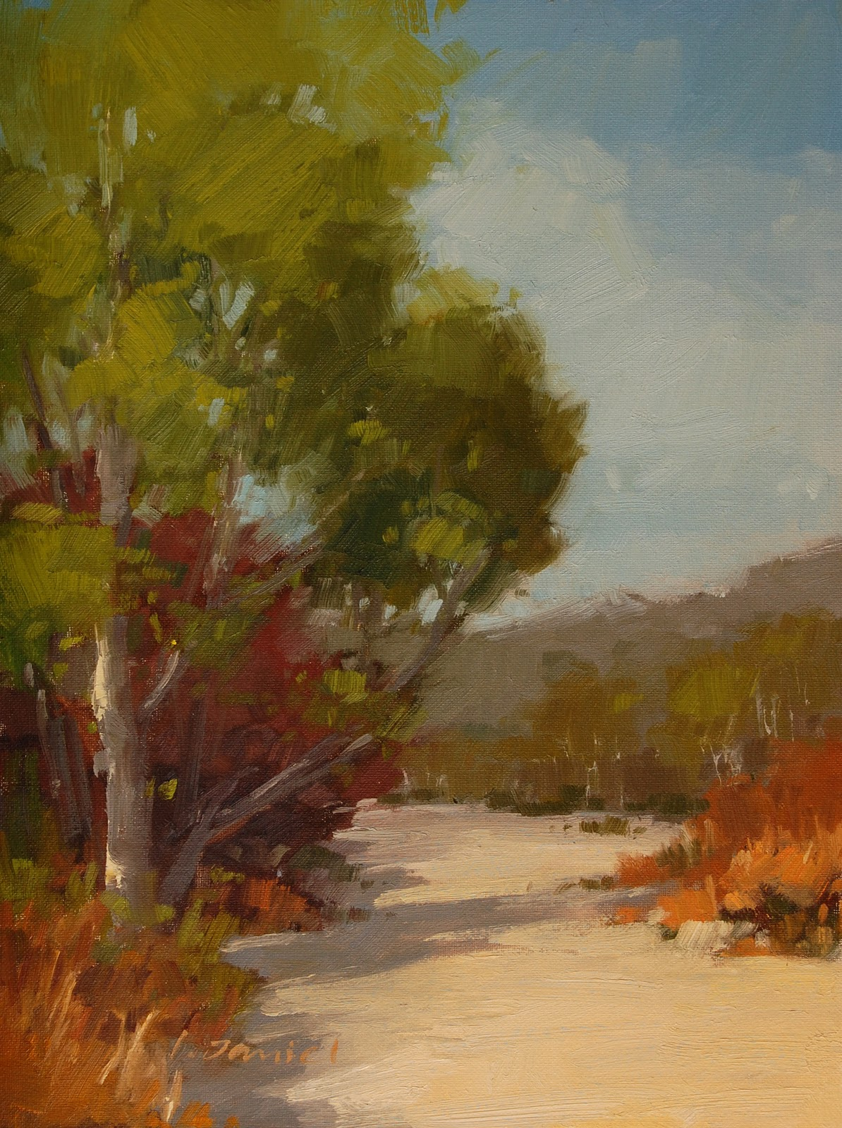 """Dry Creek Bed"" original fine art by Laurel Daniel"