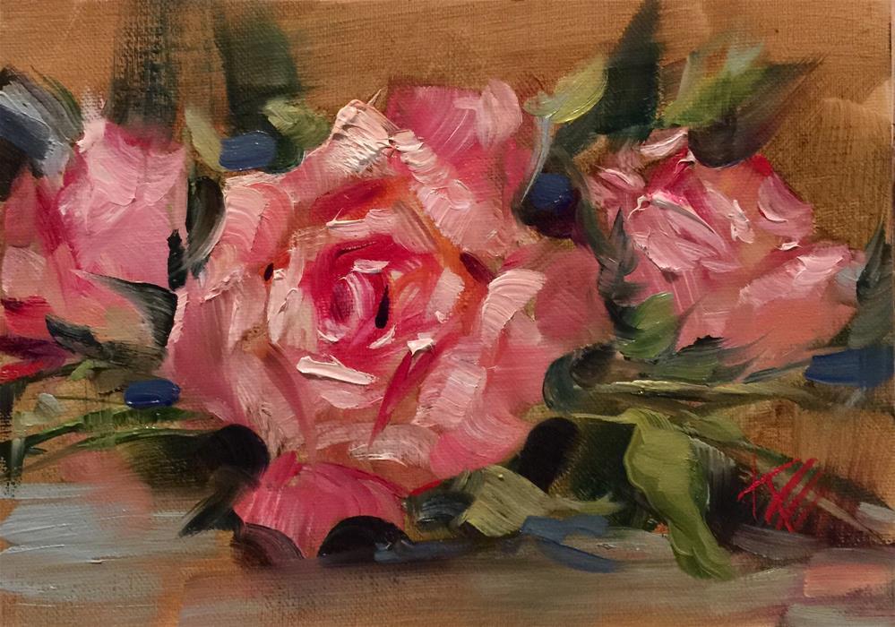 """Pretty in Pink"" original fine art by Krista Eaton"
