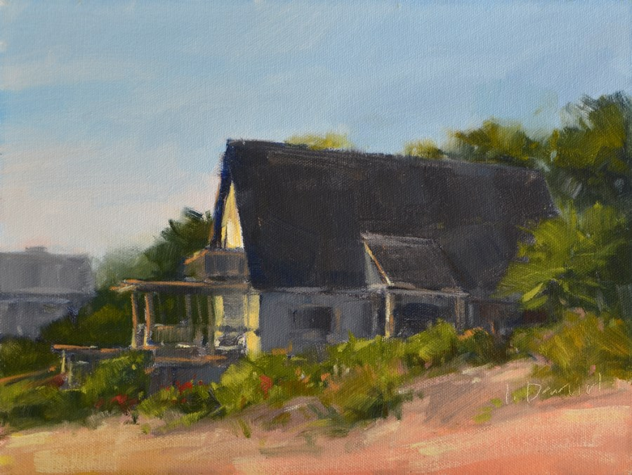 """Beach Cottage"" original fine art by Laurel Daniel"