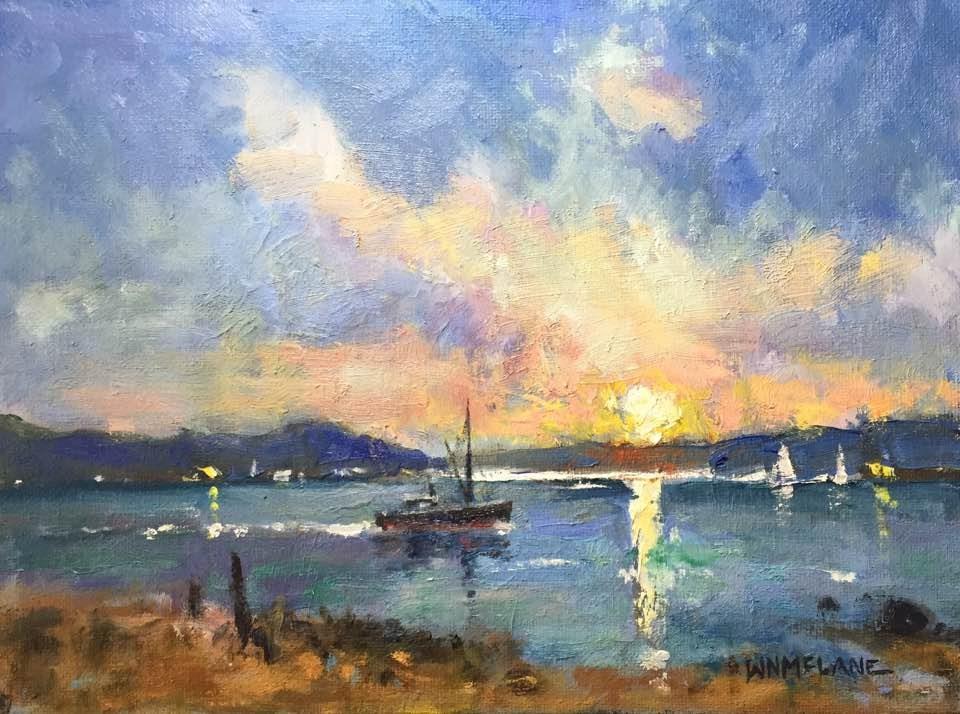 """Heading Home"" original fine art by William  McLane"