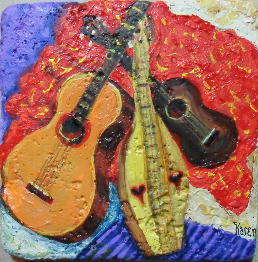 """""""Strings Trio"""" original fine art by Karen Roncari"""