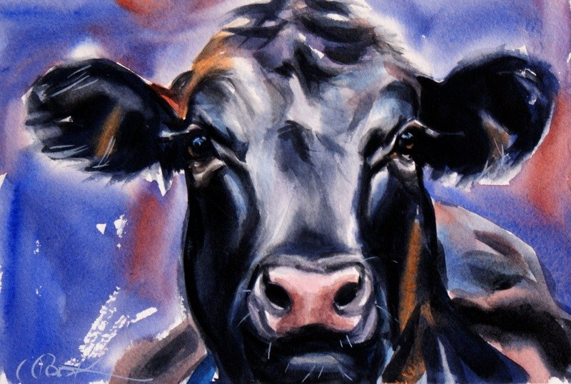 """Dairy Queen"" original fine art by Crystal Cook"