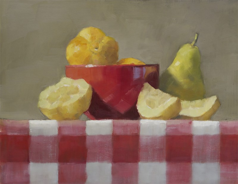 """Lemon Cucumbers"" original fine art by Nancy  Spinadel"