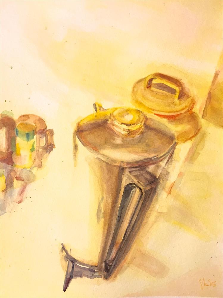 """""""Burned Coffee"""" original fine art by jean krueger"""
