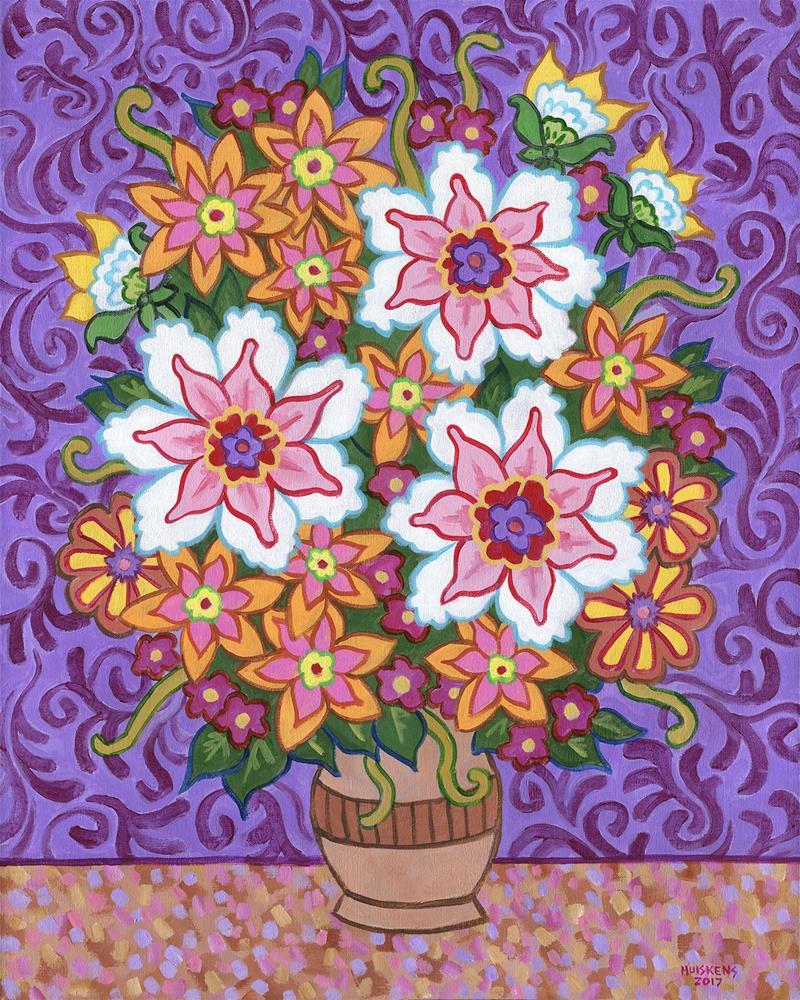 """""""Vase Of Flowers No. 2"""" original fine art by Randal Huiskens"""
