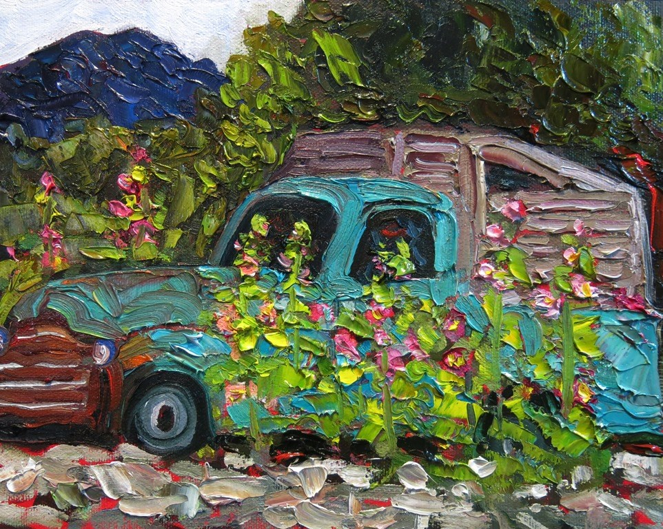 """OLD TRUCK"" original fine art by Dee Sanchez"