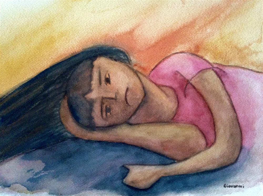 """A little upset"" original fine art by Giovanni Antunez"
