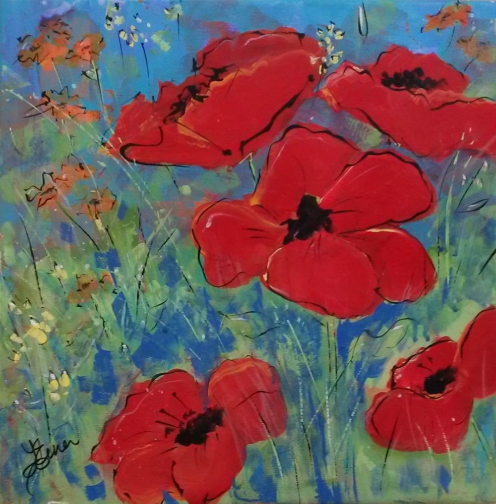 """Poppy Fields"" original fine art by Terri Einer"
