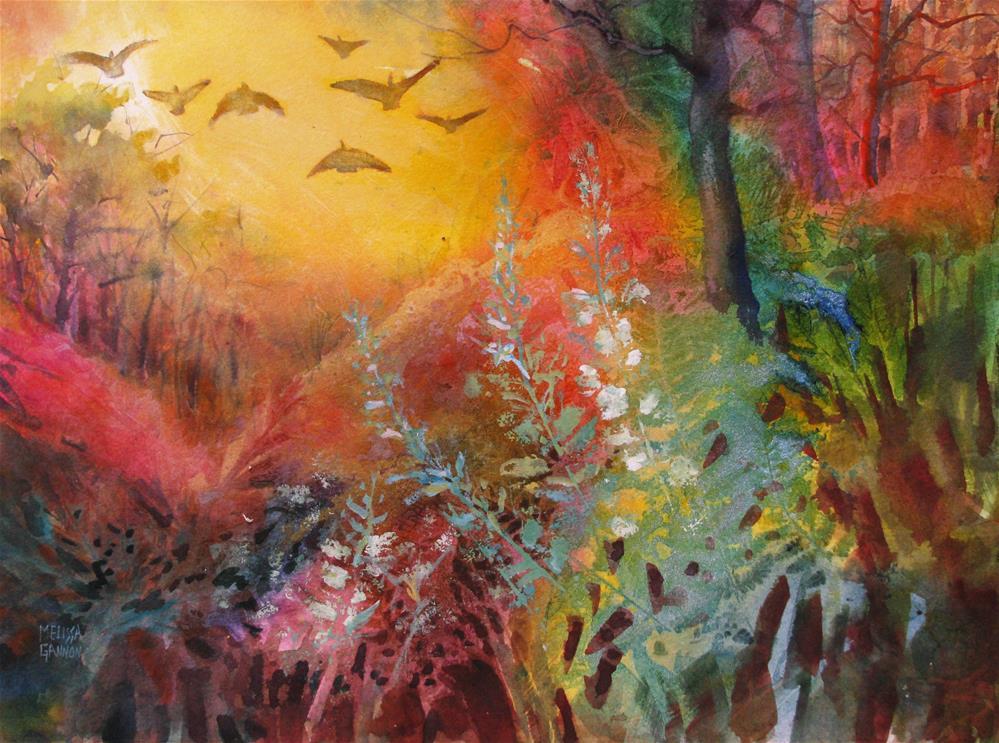 """A Wing and a Prayer"" original fine art by Melissa Gannon"
